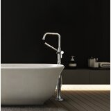 Momenti™ Single Hole Floor Mount Tub Filler Trim with U-Spout by Riobel