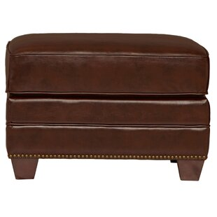 Harbor House Bauer Leather Ottoman