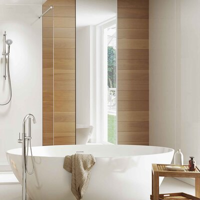 Remer by Nameek\'s Wall Mounted Tub Filler with Hand Shower | Wayfair