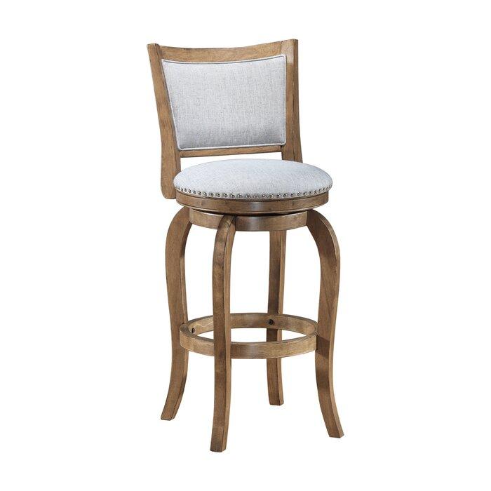 Tremendous Prevost Wooden Swivel Bar Stool Lamtechconsult Wood Chair Design Ideas Lamtechconsultcom