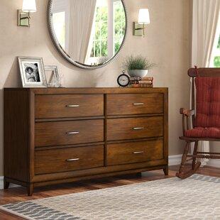 Top Reviews Chiu 6 Drawer Double Dresser by Winston Porter