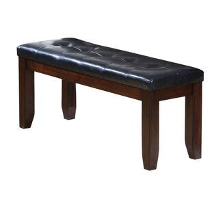 Red Barrel Studio Hirano Leather Wooden Bench