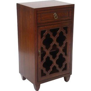 Fairhills 1 Drawer and 1 Door Accent Cabinet with Glass Insert by Mistana