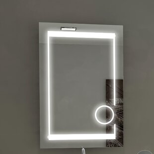 Read Reviews Aurora Illuminated Bathroom/Vanity Wall Mirror ByParis Mirror
