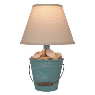 Jalen Mini Bucket of Shells 18 Table Lamp