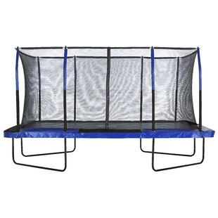 Upper Bounce Upper Bounce® Easy Assemble Mega 8' X 14' Rectangular Trampoline, with Fiber Flex Enclosure System