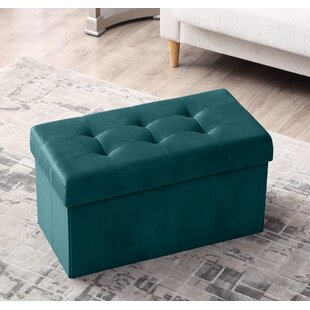 Minnetrista Foldable Tufted Storage Ottoman by House of Hampton