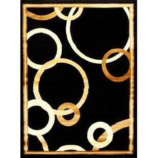 Elif/Passion Black/Beige Area Rug ByBekmez International Inc.