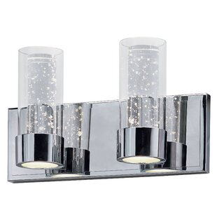 Orren Ellis Andi LED 2-Light Glass Vanity Light