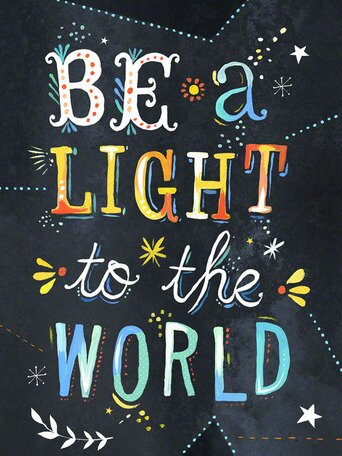 Be a Light to the World Canvas Art by Katie Daisy. Happy LOVE Day, Lovelies! Poetry, handlettered art, and colorful Valentine's Day finds await on Hello Lovely Studio!