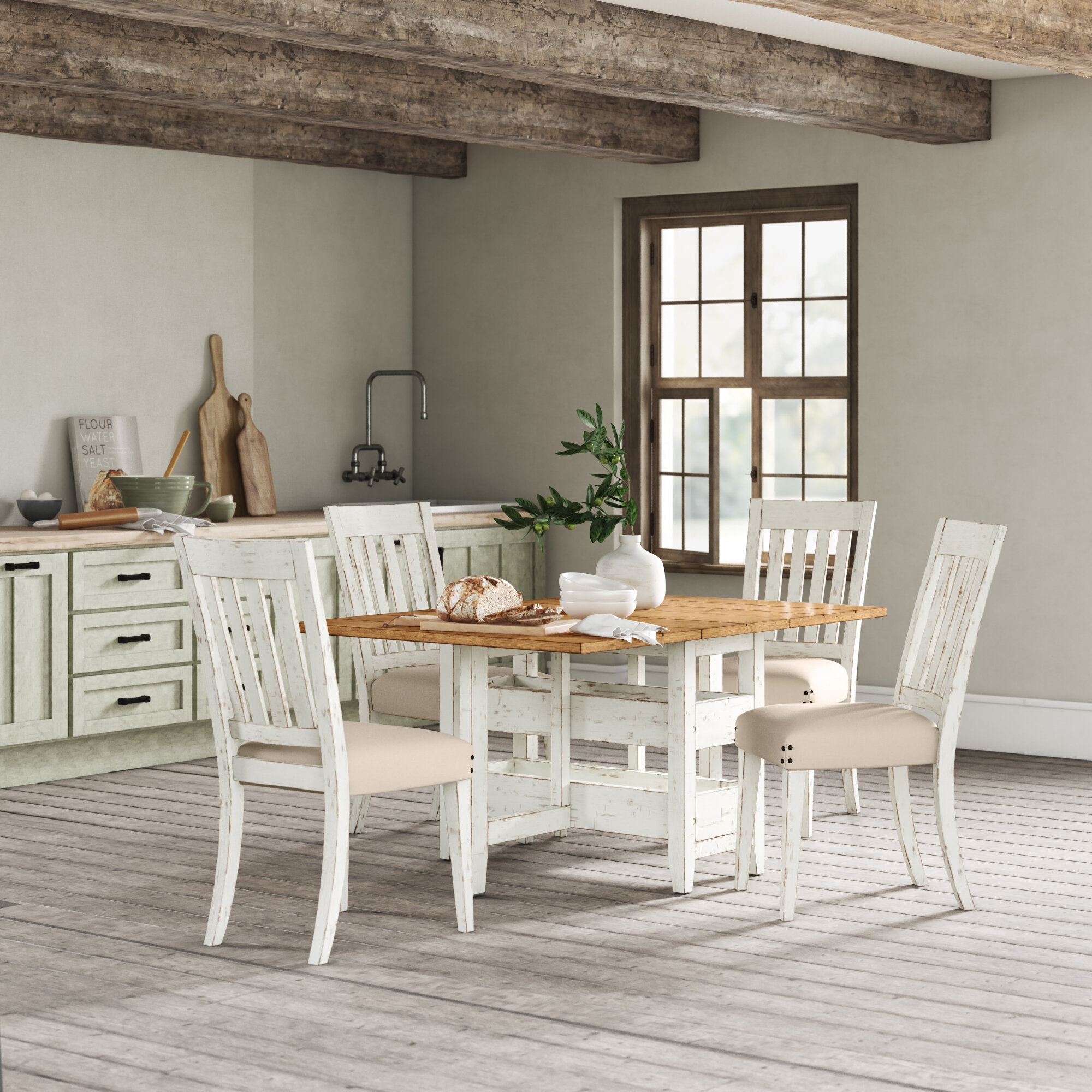 Silver Dining Table And Chairs, Jackie S House 5 Piece Drop Leaf Dining Set Reviews Birch Lane