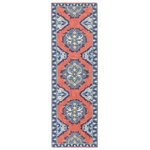 CompanyC Old Glory Hand Hooked Wool Red/Blue Area Rug