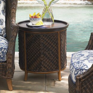 Island Estate Lanai Wicker Rattan Side Table by Tommy Bahama Outdoor Today Only Sale