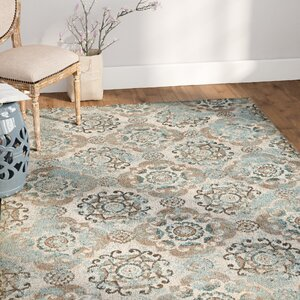 Raquel Grey & Silver/Blue Area Rug