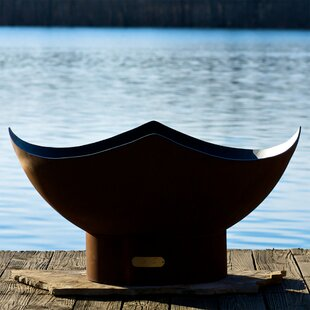 Manta Ray Bowl Steel Fire Pit by Fire Pit Art