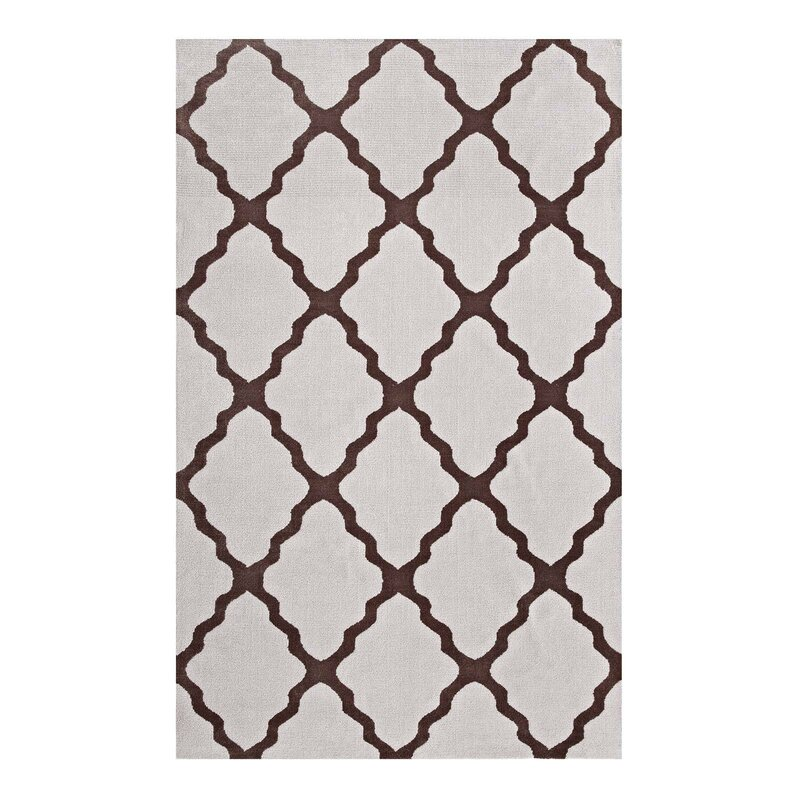 Tylersburg Moroccan Trellis Brown Gray Area Rug