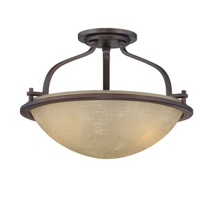 Clarissa 2-Light Semi-Flush Mount by Fleur De Lis Living