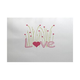 Valentine's Day Pink Indoor/Outdoor Area Rug