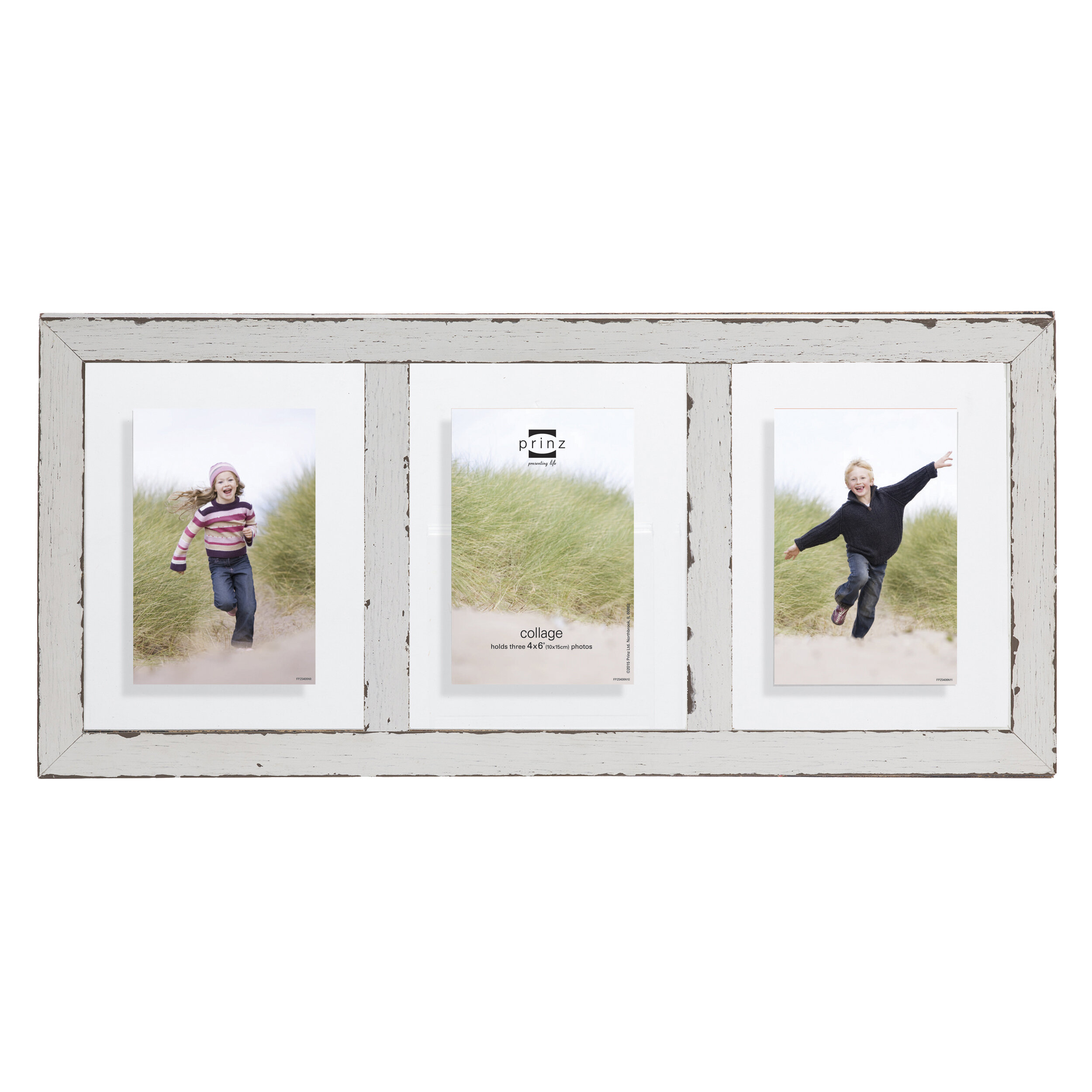Prinz 3 Opening Bristol Distressed Wood Float Picture Frame | Wayfair