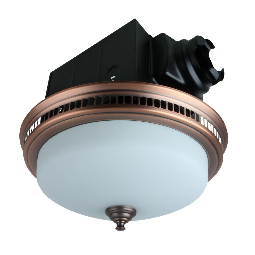4 CFM Bathroom Fan with Light