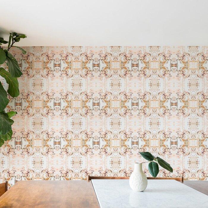 Marta Barragan Camarasa Abstract Pink Matte Peel And Stick Wallpaper Panel