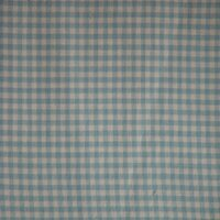 Blue Sky and White Gingham Checks Bed Curtain Panels