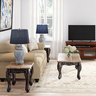 Albertus 3 Piece Coffee Table Set by Astoria Grand SKU:AC218792 Information