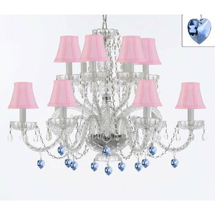 Bowerville 12-Light Shaded Chandelier by Rosdorf Park