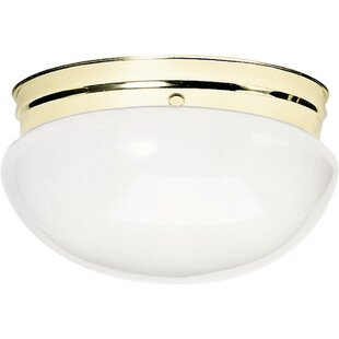 Ebern Designs Chacon 2-Light Glass Shade Flush Mount