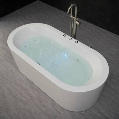 "orren ellis batts 67"" x 32"" freestanding air bathtub | wayfair"