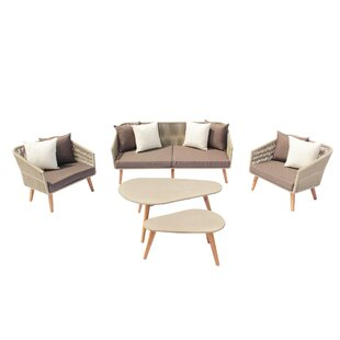 Euben Outdoor 5 Piece Sofa Seating Group with Cushions