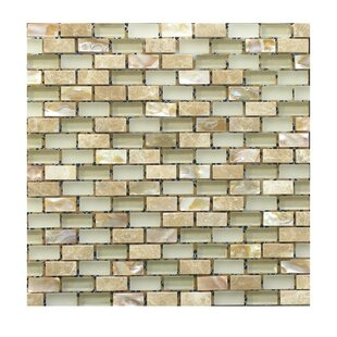 Review Glass Mosaic Tile in Beige by QDI Surfaces