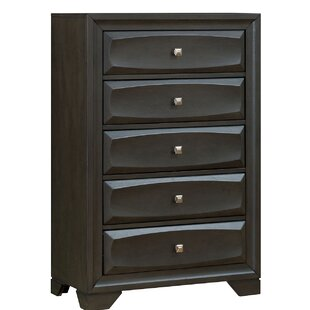Whitehouse Transitional Wood 5 Drawer Chest