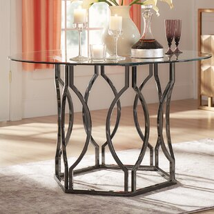 Willa Arlo Interiors Affric Glass Dining Table
