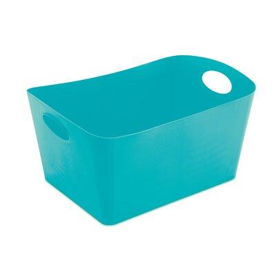 Turn on the Brights Rectangular Plastic Storage Bin Color: Aqua, Size: 4.25 H x 7.36 W x 5 D