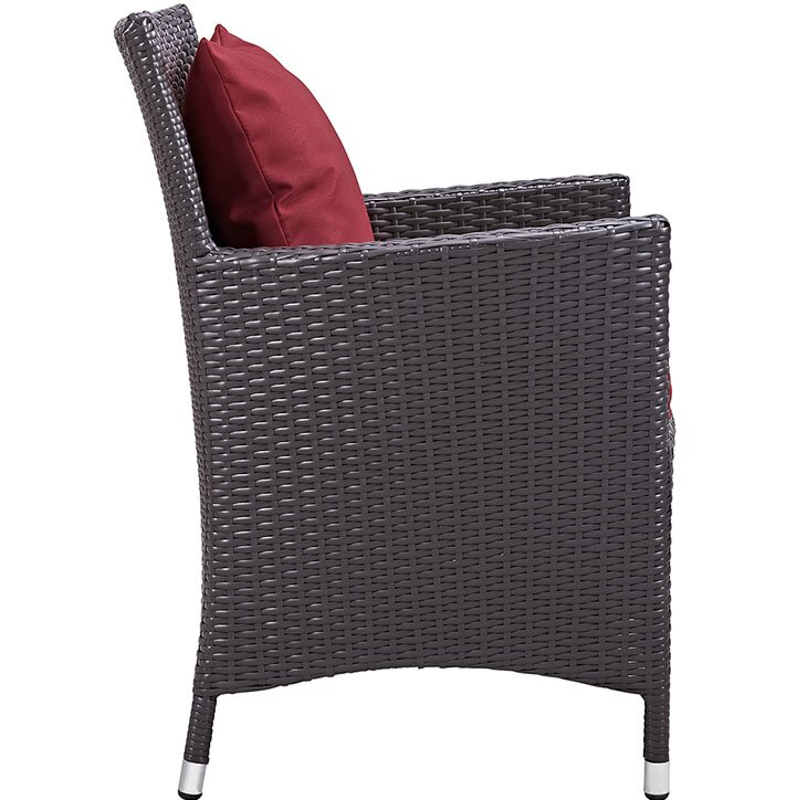 """Sol 72 Outdoor  Brentwood 11 Piece Dining Set with Cushion Table Size: 90.5"""" L x 63"""" W, Fabric Color: Red"""
