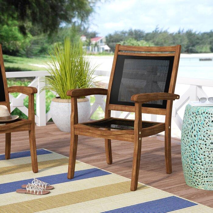 Brilliant Tovar Sling And Eucalyptus Patio Chair Machost Co Dining Chair Design Ideas Machostcouk