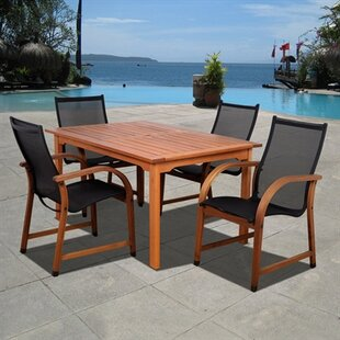 Beachcrest Home Ely 5 Piece Dining Set