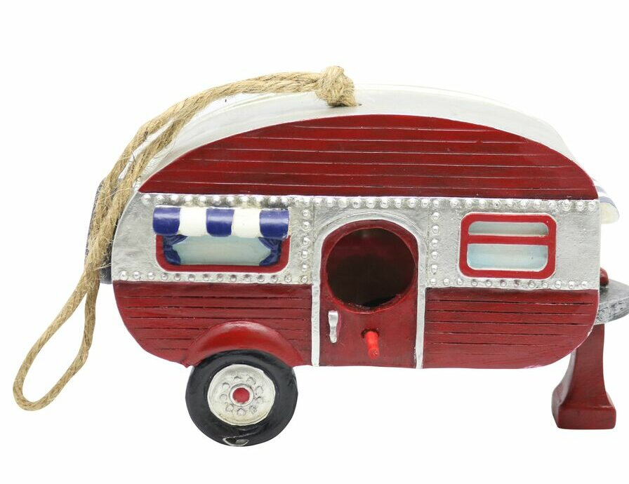 Benzara Hanging Multicolor Camper 6 In X 5 In X 10 In Birdhouse Wayfair