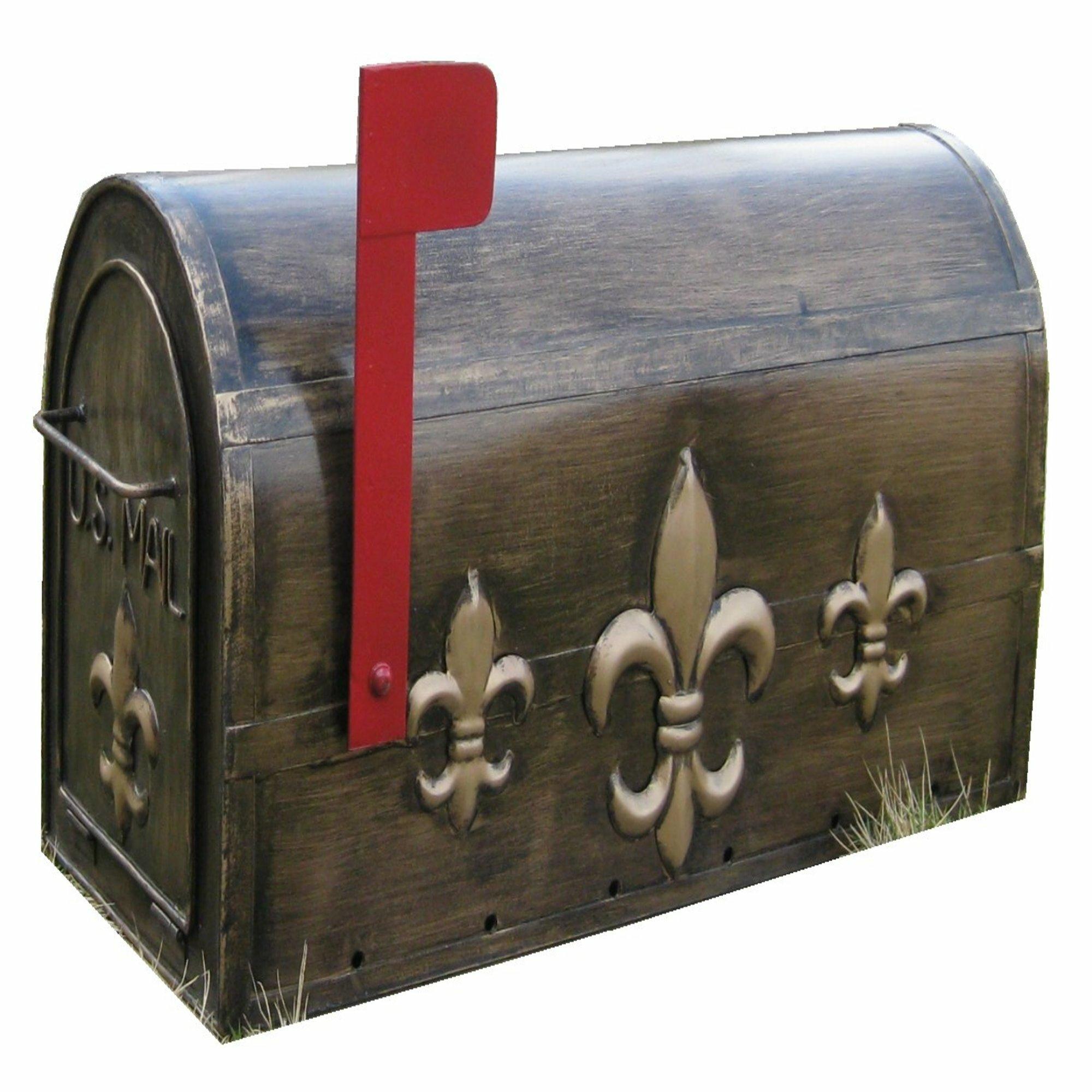 Picture of: Fleur De Lis Living Pottsville Fleur De Lis Metal Post Mounted Mailbox Reviews Wayfair