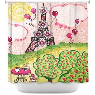 Paris in Single Shower Curtain