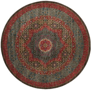 Whitehall Red/Brown/Navy Area Rug by Birch Lane™ Heritage