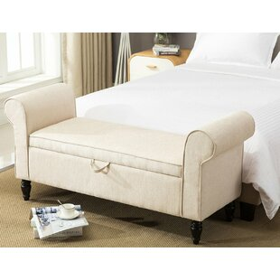 Souther Upholstered Storage Bench by Charlton Home