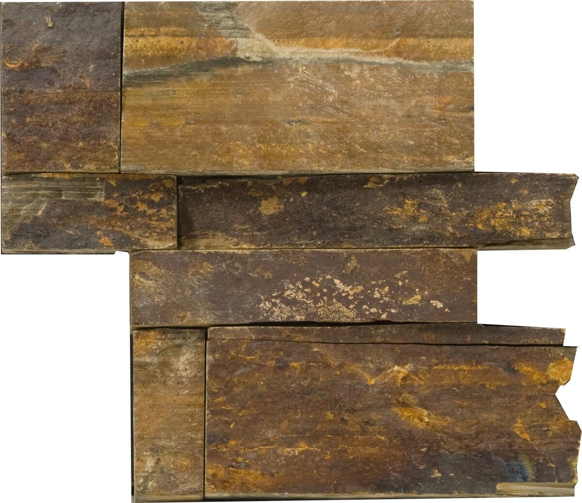 Emser Tile Natural Stone 16 X 6 Slate Corner Piece Tile Trim In Gray Wayfair