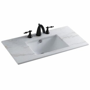 Buy clear Forum Ceramic Rectangular Undermount Bathroom Sink with Overflow ByElements of Design