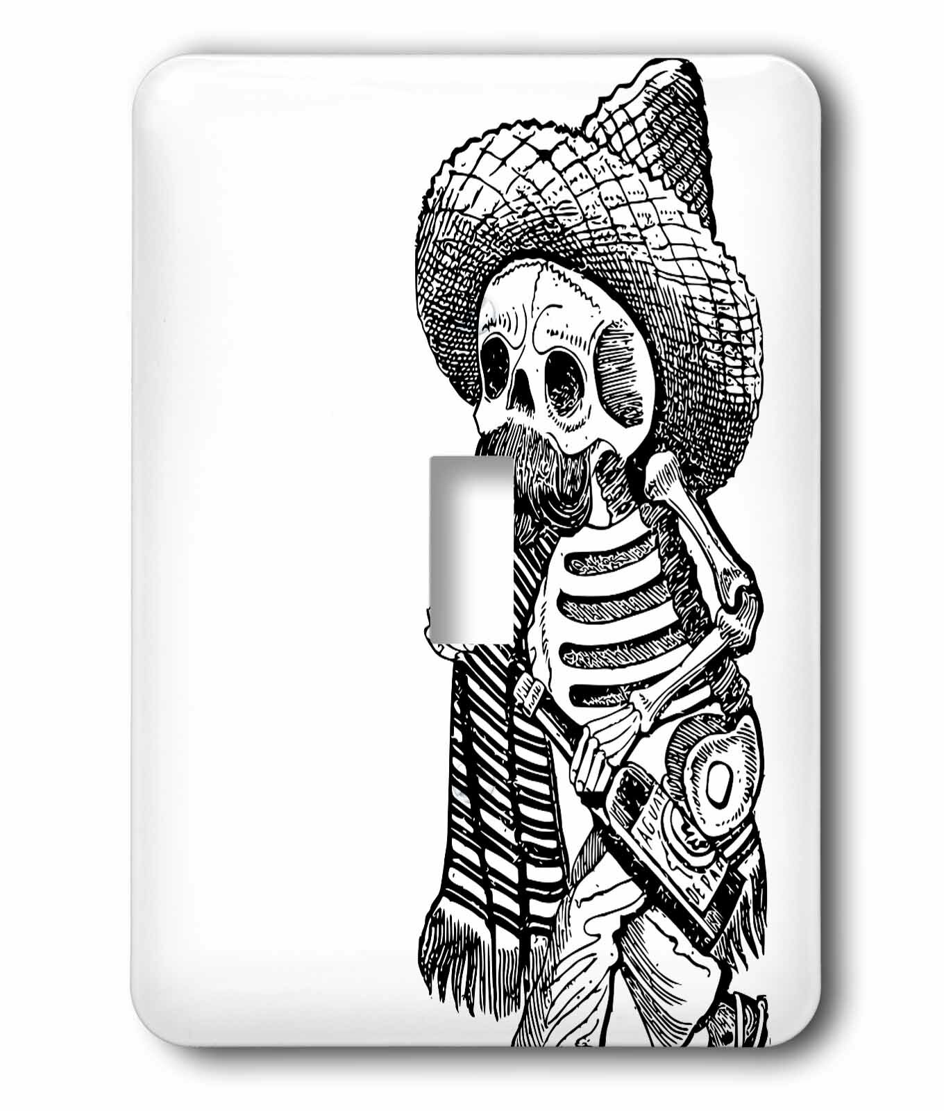 3drose Day Dead Skeleton 1 Gang Toggle Light Switch Wall Plate Wayfair