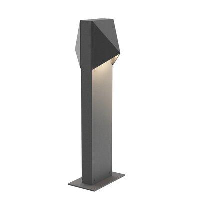 Brayden Studio Annie Compact 12-Light LED Bollard Light Finish: Gray, Size: 22 H x 3.5 W x 5.25 D