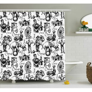 Jace Circus Magician Theme Shower Curtain + Hooks