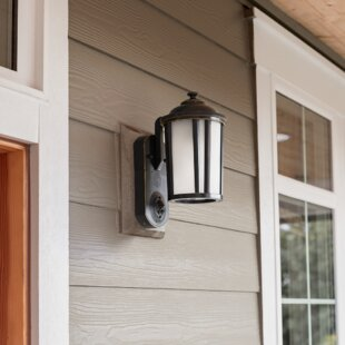 Smart Security with Camera 1-Light Outdoor Wall Lantern By Maximus Outdoor Lighting