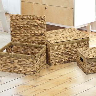 3 Piece Seagrass Chest Basket Set